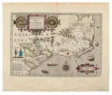 MERCATOR, GERARD; and HONDIUS, JODOCUS. Virginiae Item et Floridae Americae Provinciarum, nova Descriptio.