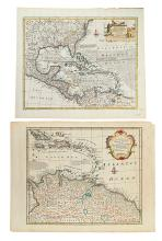 BOWEN, EMANUEL. An Accurate Map of the West Indies. * A New and Accurate Map of Terra Firma and the Caribbe Islands.