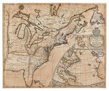 MORDEN, ROBERT. A New Map of the English Empire in America viz Virginia.