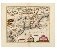 JANSSONIUS, JOHANNES. Belgii Novi Angliae Novae, et partis Virginiae Novisssima Delineato.