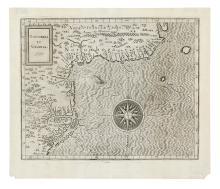 WYTFLIET, CORNELIS. Norumbega et Virginia. 1597.