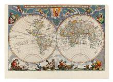 DANCKERTS, DANCKER. Nova Totius Terrarum Orbis, Auctore D. D.