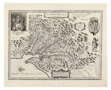HONDIUS, HENRICUS. Nova Virginiae Tabula.