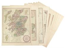 LAURIE, ROBERT; and WHITTLE, JAMES. Ten hand-colored engraved maps of European interest.