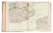 DESNOS, LOUIS CHARLES. Nouvel atlas de l'Angleterre. Divisé en ses 52. Comtés.