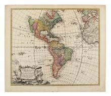 HOMANN HEIRS. Americae Mappa generalis Secundum legimitas projectionis Stereiographiae regulas… MDCCXXXXVI.