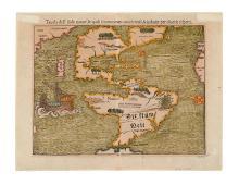 MUENSTER, SEBASTIAN. Tavola dell' isole nuove, le quali son nominate occidentali, & indiane per diversi rispetti.