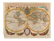 BLOME, RICHARD. A Mapp or Generall Carte of the World.