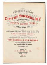 (NEW YORK CITY.) Hyde, E.B.; and Bien, Julius. Property Atlas of the City of Yonkers, N.Y.