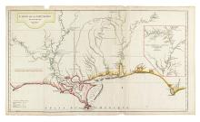 D'ANVILLE, JEAN BAPTISTE BURGUIGNON. Carte de la Louisiane.