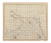 CUTLER, NATHANIEL; and HALLEY, EDMOND. A Chart of the East Indian Ocean from Cape Guardefoy to Cochin on the Coast of Malabar.