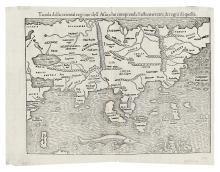 MUENSTER, SEBASTIAN. Tavola della oriental regione dell'Asia, che comprende l'estremeterre, & regni di quella.