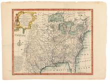 BOWEN, EMANUEL. A New & Accurate Map of Louisiana with Part of Florida and Canada.