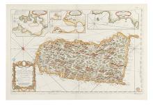 BELLIN, JACQUES NICOLAS. Carte de l'Isle de Sainte Lucie Dressee au Depost des Cartes et Plans de la Marine.