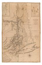 MONTRESOR, JOHN. A Map of the Province of New York, with Part of Pensilvania. and New England.