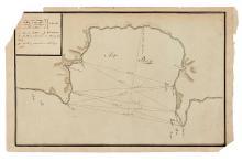 (MANUSCRIPT MAP--ENGLAND.) A manuscript hydographic survey of Tor Bay, including proposed coastal batteries.