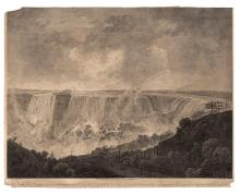 (NIAGARA.) Byrne, William; after Lt. Pierie. View of the Cataract of Niagara with the Country adjacent.