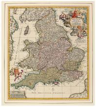 VISSCHER FAMILY. Angliae Regnum Tam in Septem Antiqua Anglo-Saxonum Regna.