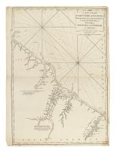 LAURIE, ROBERT; and WHITTLE, JAMES. A New Chart of the Coast of Guyana From Rio Orinoco to River Berbice.