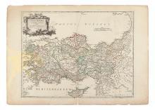 (TURKEY.) Robert de Vaugondy, Gilles and Didier. Asia Minor in suas partes seu provincias divisa.