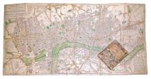 (LONDON.) Bowles, Thomas. Bowles's New Two-Sheet Plan of the Cities of London & Westminster; with the Borough of Southwark.