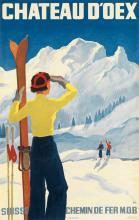 ALEX WALTER DIGGELMANN (1902-1987). CHATEAU D'OEX. 1937. 40x25 inches, 101x63 cm. J.C. Müller, Zurich.