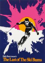 DESIGNER UNKNOWN. THE LAST OF THE SKI BUMS. 1969. 40x29 inches, 103x74 cm.