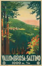 DESIGNER UNKNOWN. VALLOMBROSA - SALTINO. Circa 1928. 39x24 inches, 99x31 cm.