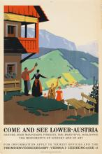 HERMANN KOSEL (1896-1983). COME AND SEE LOWER - AUSTRIA. 37x25 inches, 95x25 cm. Christoph Reisser's Söhne, Vienna.