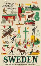 VARIOUS ARTISTS. [SCANDINAVIAN TRAVEL]. Two posters. Sizes vary.