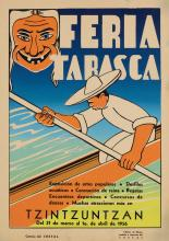 DESIGNER UNKNOWN. FERIA TARASCA. 1956. 25x18 inches, 65x46 cm.