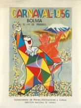 LUZBEL (DATES UNKNOWN). CARNAVAL / BOLIVIA. 1956. 23x17 inches, 59x43 cm. Don Bosco, La Paz.