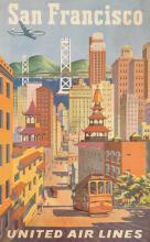 JOSEPH FEHER (1908-1988). SAN FRANCISCO / UNITED AIR LINES. 40x25 inches, 101x63 cm.