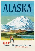 L.B. (DATES UNKNOWN). ALASKA / FLY PACIFIC NORTHERN AIRLINES. 41x28 inches, 104x72 cm.