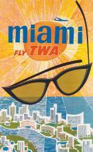 DAVID KLEIN (1918-2005). MIAMI / FLY TWA. Circa 1960. 40x25 inches, 101x63 cm.