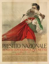 MARIO BORGONI (1869-1936). PRESTITO NAZIONALE. Circa 1916. 51x39 inches, 129x99 cm. Officine dell' Istituto Italiano d'Arti Grafiche,