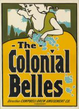 DESIGNER UNKNOWN. THE COLONIAL BELLES. 27x20 inches, 70x52 cm. Joseph Mack Printing House, Detroit.