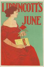 JOSEPH J. GOULD, JR. (1880-1935). LIPPINCOTT'S JUNE. 1896. 14x9 inches, 36x24 cm.