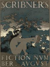 MAXFIELD PARRISH (1870-1966). SCRIBNER'S FICTION NUMBER. AUGUST. 1897. 19x14 inches, 50x36 cm.