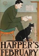 EDWARD PENFIELD (1866-1925). HARPER'S FEBRUARY. 1898. 18x13 inches, 47x33 cm.