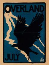 LAFAYETTE MAYNARD DIXON (1875-1946). OVERLAND JULY. 1895. 19x14 inches, 49x37 cm.