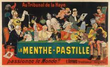 EUGENE OGÉ (1869-1936). LA MENTHE - PASTILLE. Circa 1904. 50x78 inches, 127x199 cm. P. Vercasson & Cie, [Paris.]