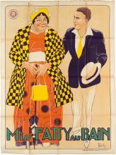 ROBERTY (DATES UNKNOWN). MISS FATTY AU BAIN / [MISS FATTY'S SEASIDE LOVERS.] Circa 1915. 62x45 inches, 159x114 cm. Ateliers Super, Par