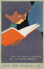 JON O. BRUBAKER (1875-?). BOOK WEEK. 1925. 21x13 inches, 54x33 cm.