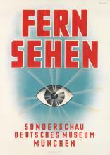 EUGÈNE M. CORDIER (1903-1974). FERN SEHEN. 1937. 47x33 inches, 119x84 cm. Chromolith-Kunstanstalt A.G., Munich.