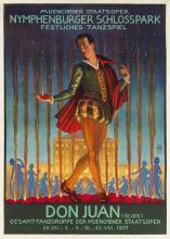 HANS STADELMANN (1876-1950). DON JUAN. 1937. 46x33 inches, 118x84 cm. Kunst Im Druck, Munich.