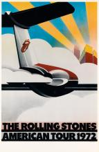 JOHN PASCHE (1945- ). THE ROLLING STONES / AMERICAN TOUR. 1972. 38x25 inches, 96x63 cm. Sunday Promotions Inc.