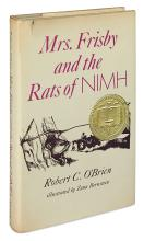 (CHILDREN'S LITERATURE.) O'BRIEN, ROBERT C. Mrs. Frisby and the Rats of NIMH.