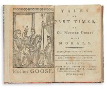 (CHILDREN'S LITERATURE.) PERRAULT, CHARLES. Tales of Past Times, by Old Mother Goose, with Morals. Translated from the French.