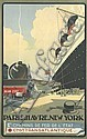 ALBERT SEBILLE (1874-1953). CHEMINS DE FER DE L'ÉTAT / FRENCH LINE. Circa 1930. 38x24 inches, 98x61 cm. Pub Novia, Paris.